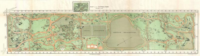 1870_Vaux_and_Olmstead_Map_of_Central_Park,_New_York_City_-_Geogr